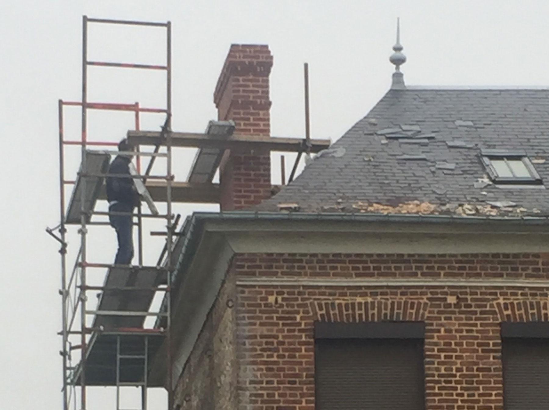 La souche de cheminée a été complètement restaurée