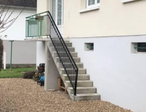 Création d'un escalier extérieur